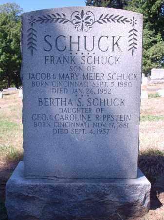 SCHUCK, FRANK - Hamilton County, Ohio | FRANK SCHUCK - Ohio Gravestone Photos