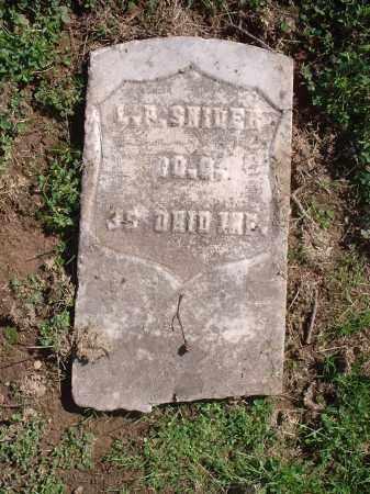 SNIDER, L.P. - Hamilton County, Ohio | L.P. SNIDER - Ohio Gravestone Photos