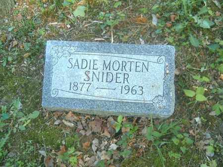 MORTEN SNIDER, SADIE - Hamilton County, Ohio | SADIE MORTEN SNIDER - Ohio Gravestone Photos