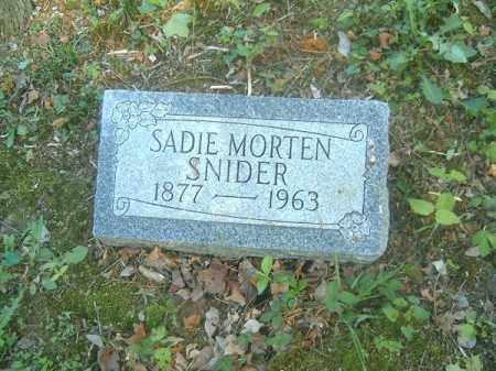 SNIDER, SADIE - Hamilton County, Ohio | SADIE SNIDER - Ohio Gravestone Photos