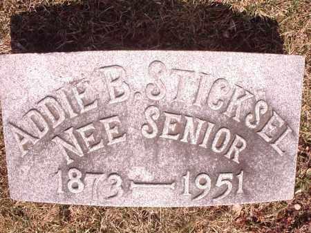 STICKSEL, ADDIE - Hamilton County, Ohio | ADDIE STICKSEL - Ohio Gravestone Photos