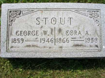 MOORE STOUT, CORA A. - Hamilton County, Ohio | CORA A. MOORE STOUT - Ohio Gravestone Photos