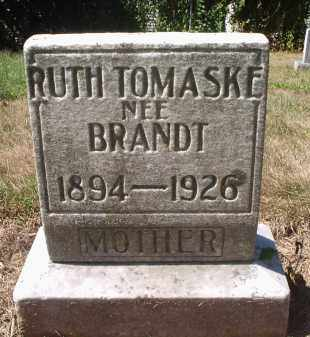 TOMASKE, RUTH - Hamilton County, Ohio | RUTH TOMASKE - Ohio Gravestone Photos