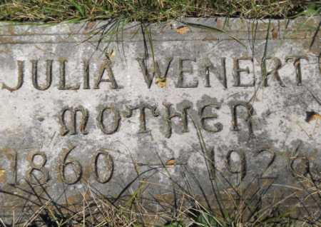 WENERT, JULIA - Hamilton County, Ohio | JULIA WENERT - Ohio Gravestone Photos