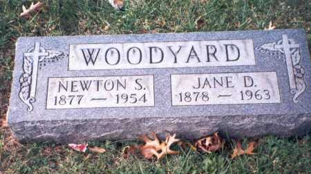 WOODYARD, JANE D - Hamilton County, Ohio | JANE D WOODYARD - Ohio Gravestone Photos