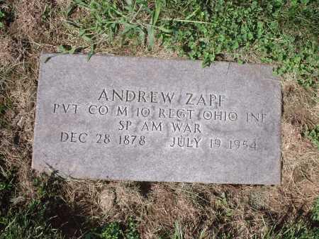ZAPF, ANDREW - Hamilton County, Ohio | ANDREW ZAPF - Ohio Gravestone Photos