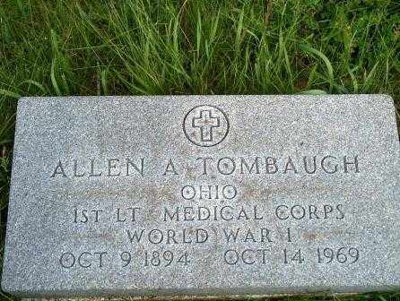 ALLEN A., TOMBAUGH - Hancock County, Ohio | TOMBAUGH ALLEN A. - Ohio Gravestone Photos
