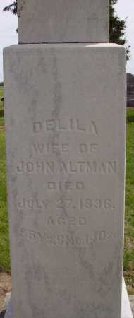 YOUNG ALTMAN, DELILA - Hancock County, Ohio | DELILA YOUNG ALTMAN - Ohio Gravestone Photos