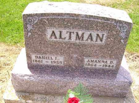 ALTMAN, AMANDA DELIGHT - Hancock County, Ohio | AMANDA DELIGHT ALTMAN - Ohio Gravestone Photos