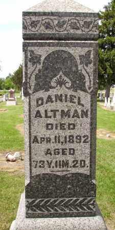 ALTMAN, DANIEL - Hancock County, Ohio | DANIEL ALTMAN - Ohio Gravestone Photos