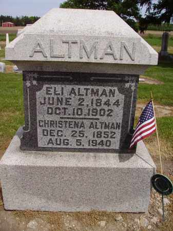 ALTMAN, ELI - Hancock County, Ohio | ELI ALTMAN - Ohio Gravestone Photos