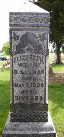 ALTMAN, ELIZABETH - Hancock County, Ohio | ELIZABETH ALTMAN - Ohio Gravestone Photos