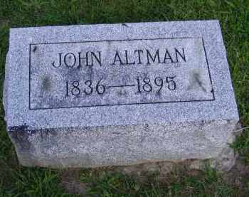 ALTMAN, JOHN - Hancock County, Ohio | JOHN ALTMAN - Ohio Gravestone Photos