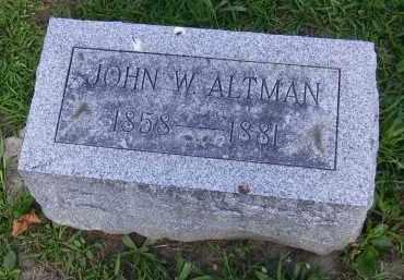ALTMAN, JOHN W. - Hancock County, Ohio | JOHN W. ALTMAN - Ohio Gravestone Photos