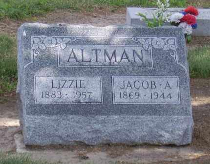 MONDAY ALTMAN, LIZZIE - Hancock County, Ohio | LIZZIE MONDAY ALTMAN - Ohio Gravestone Photos