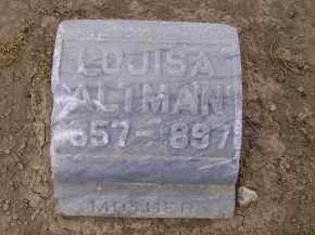 LANNING ALTMAN, LOUISA - Hancock County, Ohio | LOUISA LANNING ALTMAN - Ohio Gravestone Photos