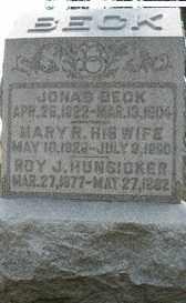 BECK, JONAS - Hancock County, Ohio | JONAS BECK - Ohio Gravestone Photos