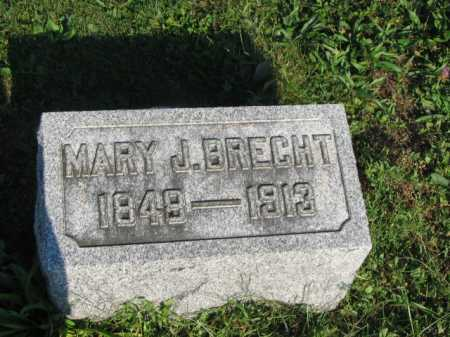 PINGLE BRECHT, MARY JANE - Hancock County, Ohio | MARY JANE PINGLE BRECHT - Ohio Gravestone Photos