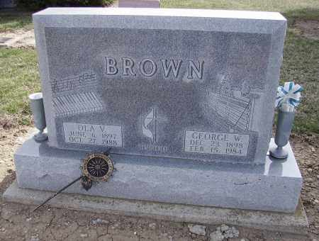 BROWN, GEORGE W. - Hancock County, Ohio | GEORGE W. BROWN - Ohio Gravestone Photos