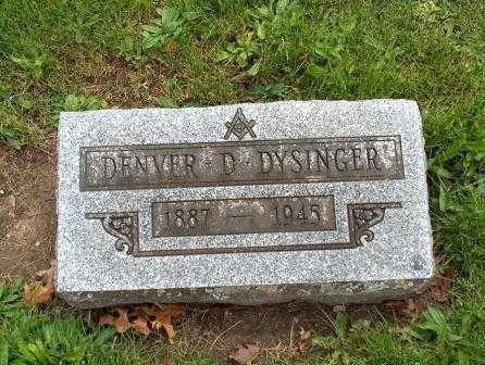 DYSINGER, DENVER D. - Hancock County, Ohio | DENVER D. DYSINGER - Ohio Gravestone Photos