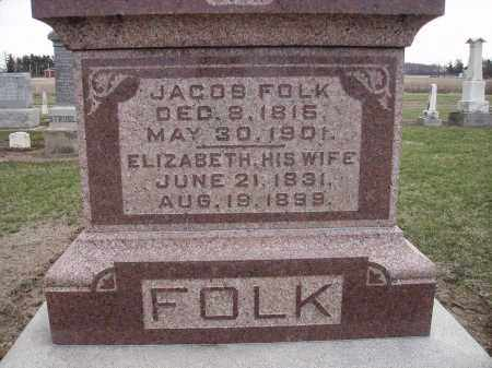 FOLK, JACOB - Hancock County, Ohio | JACOB FOLK - Ohio Gravestone Photos