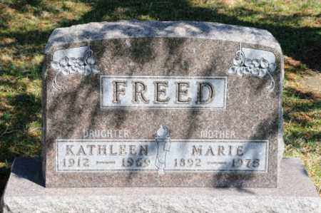 FREED, MARIE - Hancock County, Ohio | MARIE FREED - Ohio Gravestone Photos