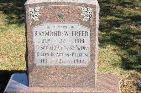 FREED, RAYMOND W. - Hancock County, Ohio | RAYMOND W. FREED - Ohio Gravestone Photos