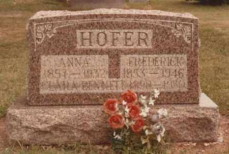 HOFER, ANNA - Hancock County, Ohio | ANNA HOFER - Ohio Gravestone Photos
