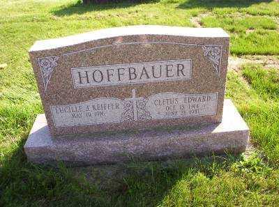 HOFFBAUER, CLETUS EDWARD - Hancock County, Ohio | CLETUS EDWARD HOFFBAUER - Ohio Gravestone Photos