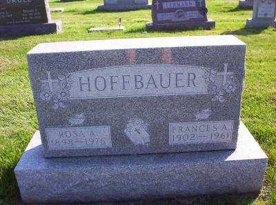 HOFFBAUER, FRANCES A. - Hancock County, Ohio | FRANCES A. HOFFBAUER - Ohio Gravestone Photos