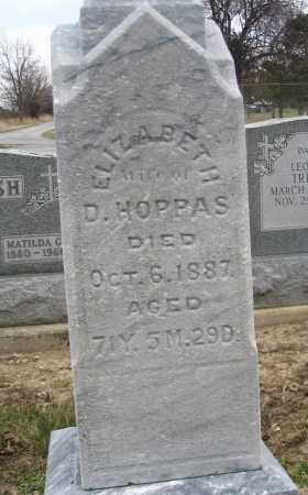 HOPPAS, ELIZABETH - Hancock County, Ohio | ELIZABETH HOPPAS - Ohio Gravestone Photos
