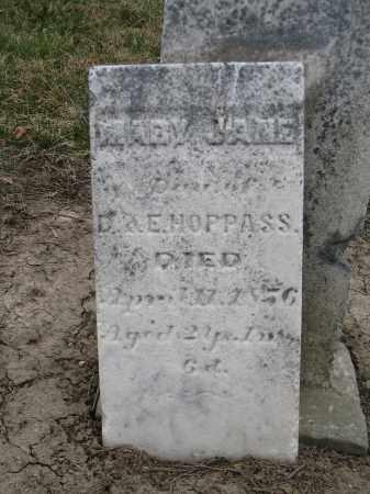HOPPAS, MARY JANE - Hancock County, Ohio   MARY JANE HOPPAS - Ohio Gravestone Photos