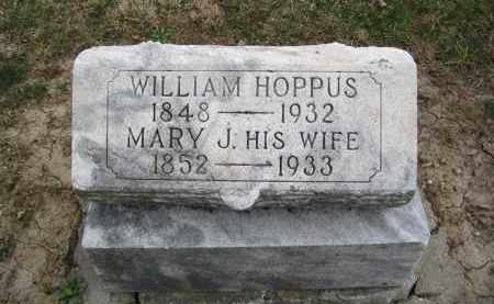 HOPPAS, MARY JANE - Hancock County, Ohio | MARY JANE HOPPAS - Ohio Gravestone Photos