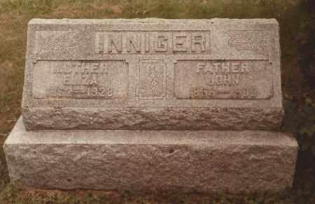 INNIGER, ELIZA - Hancock County, Ohio | ELIZA INNIGER - Ohio Gravestone Photos