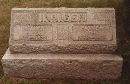 INNIGER, JOHN - Hancock County, Ohio | JOHN INNIGER - Ohio Gravestone Photos