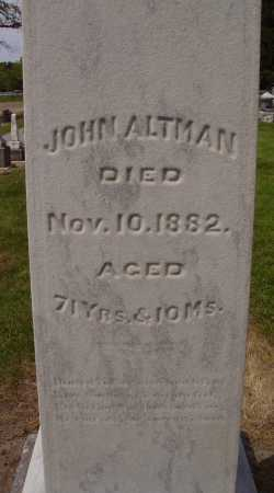 JOHN, ALTMAN - Hancock County, Ohio | ALTMAN JOHN - Ohio Gravestone Photos