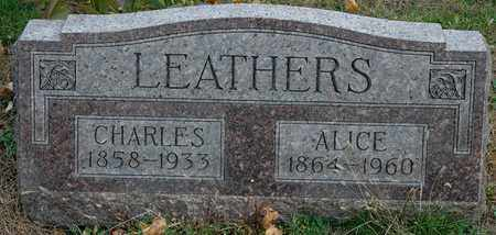 BURMAN LEATHERS, ALICE - Hancock County, Ohio | ALICE BURMAN LEATHERS - Ohio Gravestone Photos