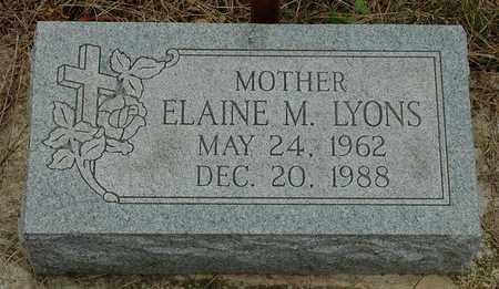 LYONS, ELAINE M. - Hancock County, Ohio | ELAINE M. LYONS - Ohio Gravestone Photos