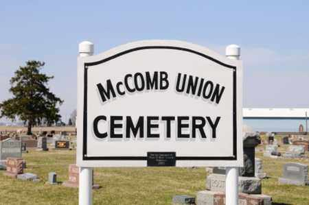 MCCOMB, UNION CEMETERY SIGN - Hancock County, Ohio | UNION CEMETERY SIGN MCCOMB - Ohio Gravestone Photos