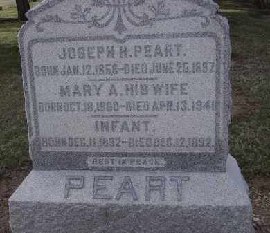 PEART, MARY A. - Hancock County, Ohio | MARY A. PEART - Ohio Gravestone Photos