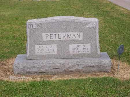 PETERMAN, JOHN - Hancock County, Ohio | JOHN PETERMAN - Ohio Gravestone Photos