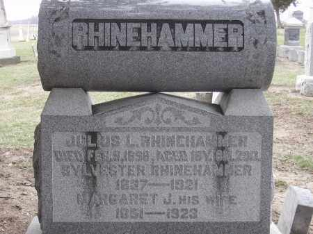 RHINEHAMMER, JULIUS - Hancock County, Ohio | JULIUS RHINEHAMMER - Ohio Gravestone Photos