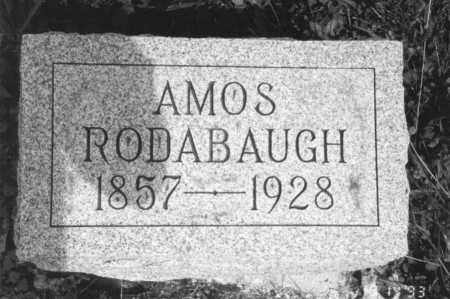 RODABAUGH, AMOS - Hancock County, Ohio | AMOS RODABAUGH - Ohio Gravestone Photos