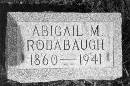 RODABAUGH, ABIGAIL M - Hancock County, Ohio | ABIGAIL M RODABAUGH - Ohio Gravestone Photos