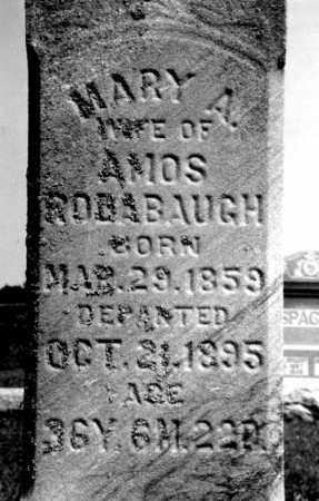 BOSSERMAN RODABAUGH, MARY A - Hancock County, Ohio | MARY A BOSSERMAN RODABAUGH - Ohio Gravestone Photos