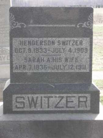 SWITZER, HENDERSON - Hancock County, Ohio | HENDERSON SWITZER - Ohio Gravestone Photos
