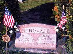 THOMAS, ALBERT J - Hancock County, Ohio | ALBERT J THOMAS - Ohio Gravestone Photos