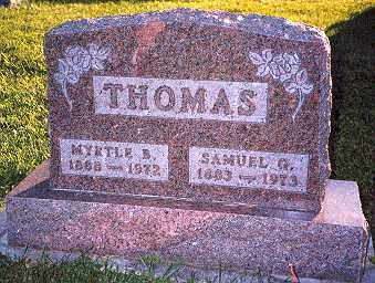 THOMAS, MYRTLE BLANCHE - Hancock County, Ohio | MYRTLE BLANCHE THOMAS - Ohio Gravestone Photos