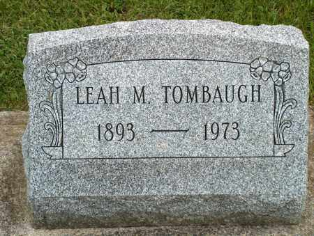 TOMBAUGH, LEAH M. - Hancock County, Ohio | LEAH M. TOMBAUGH - Ohio Gravestone Photos