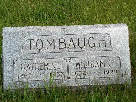 TOMBAUGH, WILLIAM G. & CATHERINE - Hancock County, Ohio | WILLIAM G. & CATHERINE TOMBAUGH - Ohio Gravestone Photos